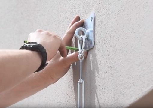 ukotvení stěny pro stínicí plachty
