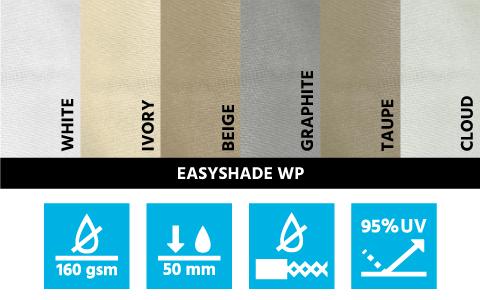 stínící plachty z polyesterové tkaniny